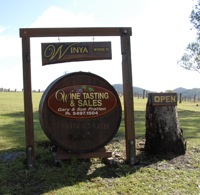 Wine Barrel displayed at Winya Wines entrance