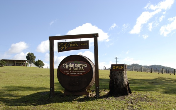 Winya Wines - Entrance Wine Barrel